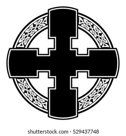 Celtic cross knot pattern symbols design for use in templates and samples for tattoo and various designs