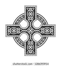 Celtic cross. Vector separate ornament.