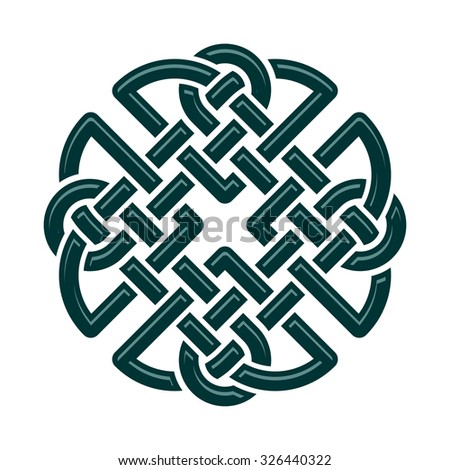 Celtic Dara Knot Symbol Strength Isolated Stock Vector Royalty Free