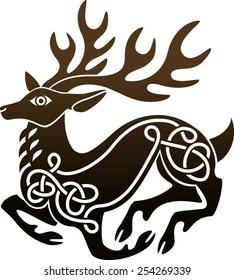 Celtic deer stag