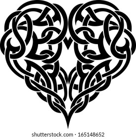 Celtic Heart Tattoo Ornate