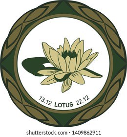 Lotus Flower Circle Images Stock Photos Vectors Shutterstock