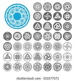 Celtic icons set. Illustration EPS10