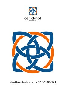 Celtic knot blue and orange