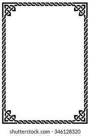 Celtic knot braided frame - rectangle