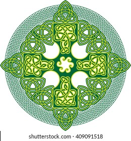 Celtic knot cross. Abstract vector illustration.