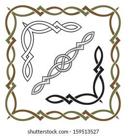 Celtic Knot Frame, Corner and Divider Elements