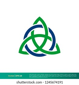 Celtic Knot Icon Vector Logo Template Illustration Design. Vector EPS 10.