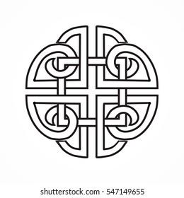 Celtic knot on the white background for design. Vector illustration