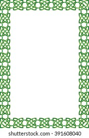 Celtic knot ornamental frame with copy space for text.