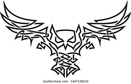 Celtic knot owl tattoo art