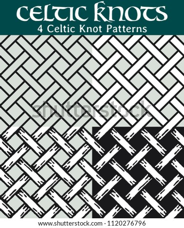 Celtic Knot Patterns 60 Different Versions Stock Vector Royalty Free Impressive Celtic Knot Patterns