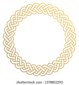 Celtic Knot Round Frame - Circular braided design with copy space