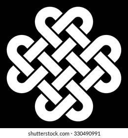 Celtic knot vector illustration (black and white, isolated)