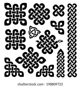 celtic knots in black
