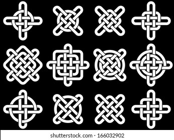 Celtic knots collection for your logo, design or project (vector illustration)