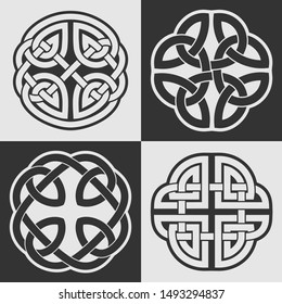 Celtic knots. Ethnic ornaments. Beautiful vector isolated on white and black backgrounds.