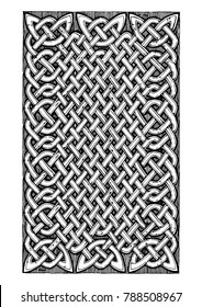 celtic knots pattern in ink hand drawn style