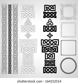 Celtic knots, patterns, frameworks. Vector illustration.
