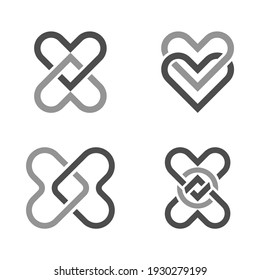 Celtic knots. Shapes interlocking with each other. Web design elements. Isolated on white background. Vector illustration