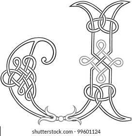 Celtic Letters Images, Stock Photos & Vectors | Shutterstock