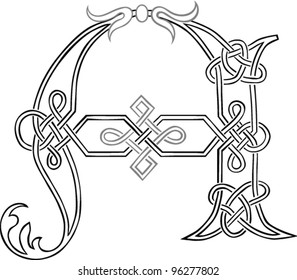 Celtic Knot Letters Stock Vectors, Images & Vector Art