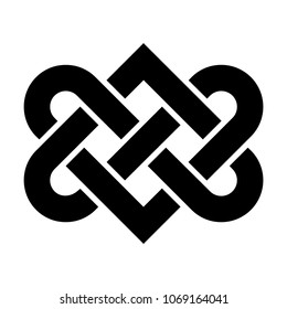 Celtic love knot vector