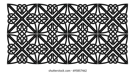 Celtic national ornament. Black ornament isolated on white background.