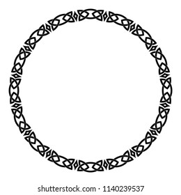 Celtic national ornament circular frame isolated on white background. Element for graphic design.