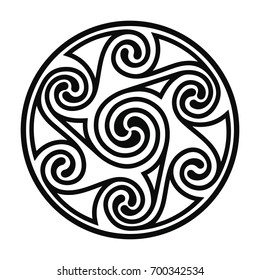 Celtic national ornament in the form of a circle. Vector image.