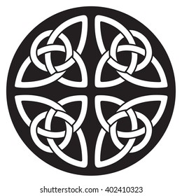 Celtic national ornament in the shape of a circle.