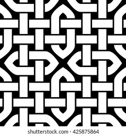 Celtic or Oriental knot seamless pattern. Vector illustration.