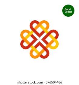 Celtic ornament flat icon 2