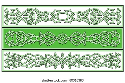 Celtic ornaments and patterns for irish or religious design. Jpeg version also available in gallery