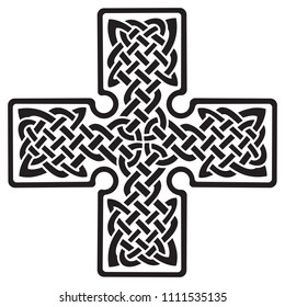 Celtic pagan cross, isolated on white, vector illustration