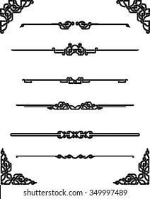Celtic Page Rules-Set of horizontal page rule in different variations and corner decor