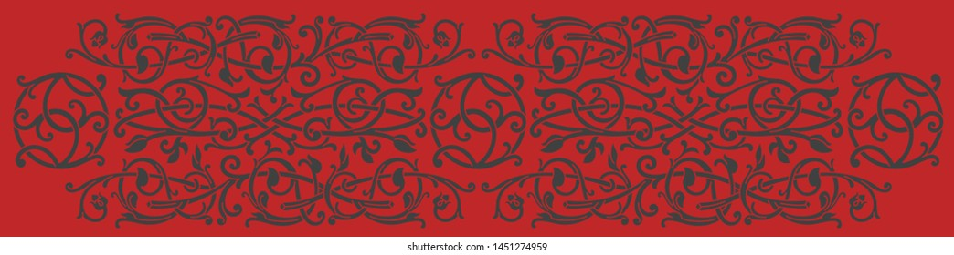 Celtic pattern ornament decoration design element. Can be use as template for border or corner. Vector illustration.