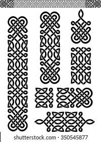 Celtic Pattern Set-Expandable pattern and properly grouped elements