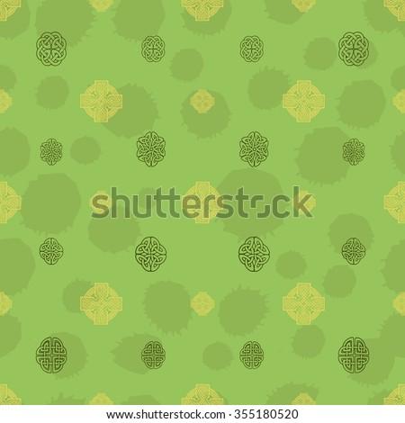 Celtic Seamless Background Patterns Irish Patterns Stock Vector Amazing Irish Patterns