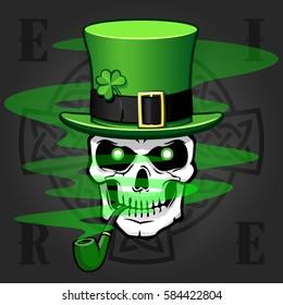Celtic skull smoking pipe