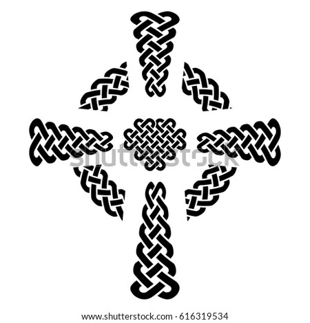 Celtic Style Knotted Cross Eternity Knot Stock Vector Royalty Free