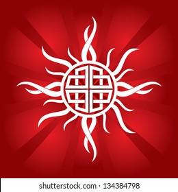 celtic sun - abstract illustration
