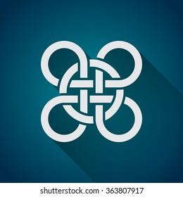 Celtic symbol, logo icon design template, flat design