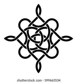 Celtic traditional abstract ornament over white background