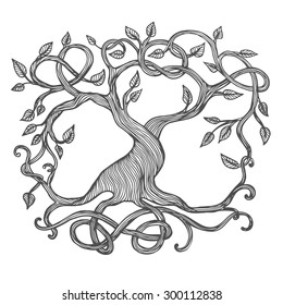 Celtic tree of life, illustration of Yggdrasil.