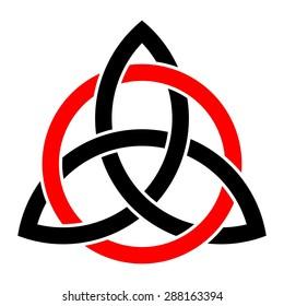 Celtic trinity knot vector, endless knot, infinity symbol, logo design