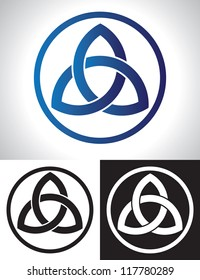 Celtic Trinity Knot Vector illustration.