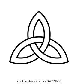 Celtic trinity knot . Vector illustration