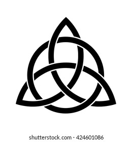 Celtic trinity knot . Vector illustration