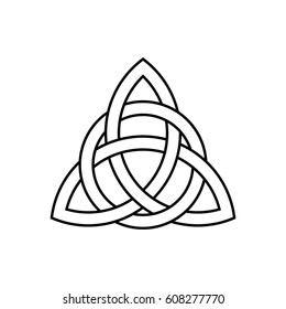 Celtic trinity knot vector, line drawing,
